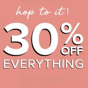 🎉FLASH SALE! 30% OFF ENTIRE CLOSET!!!